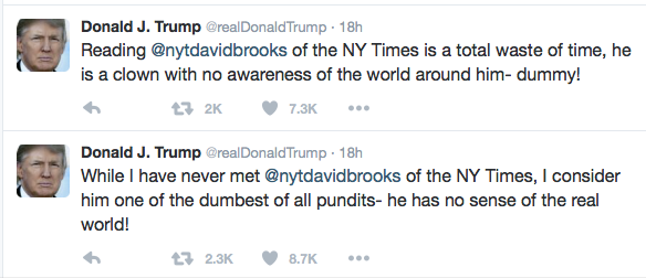 Trump on  Brooks